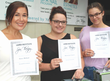 women with Laird Institute certificate for skin therapy