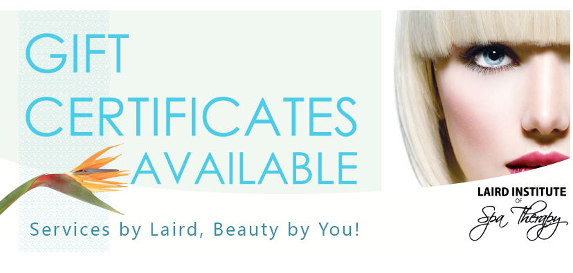 gift certificates poster from laird institute of spa therapy